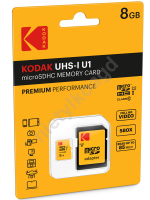 Karta pamięci Micro SD 8GB Class 10 + adapter